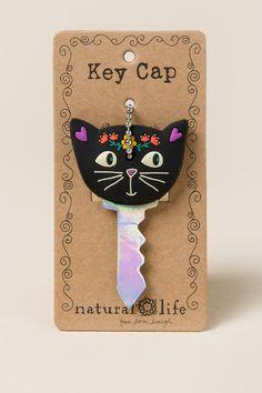 I Love My Cat Black Key Cap                                                francesca's