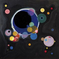 Wassily Kandinsky (Russian; Expressionism, Abstract Art; 1866-1944): Several Circles (Einige Kreise), 1926. Oil on canvas, 55-1/4 x 55-3/8 inches (140.3 x 140.7 cm). Solomon R. Guggenheim Museum, New York, NY, USA. © 2013 Artists Rights Society (ARS), New York/ADAGP, Paris  © This artwork may be protected by copyright. It is posted on the site in accordance with fair use principles.