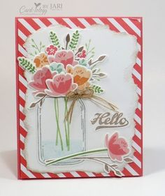 Stampin' Up! Jar of Love for Spring Cardiology by Jari