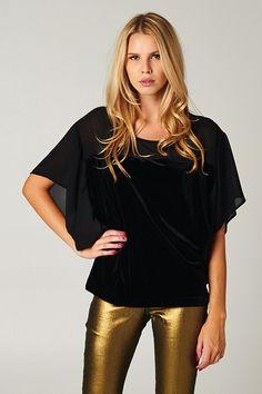 Velvet Ebony Top + Gold...++