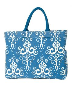 Navy Roussillion Carryall Tote by rockflowerpaper on #zulily.