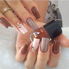 86 marvelous nail art designs 2019 page 00046 Nail Art Designs, Acrylic Nail Designs, Elegant Nails, Stylish Nails, Aycrlic Nails, Hair And Nails, Image Nails, Nagellack Trends, Cute Acrylic Nails
