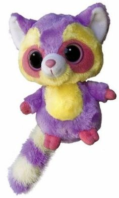 """Aurora World Inc Marias Raccoon YooHoo Makes a """"Chitter"""" sound when tummy is squeezed Super soft material Silly long tail Origonal creator of the Yoohoo Great gift item Ty Animals, Plush Animals, Cute Baby Animals, Rare Animals, Raccoon Stuffed Animal, Ty Stuffed Animals, Stuffed Toys, Ty Beanie Boos Collection, Ty Peluche"""