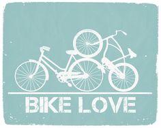 Bike Love - 8x10 Graphic Print. $16.00, via Etsy.