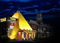 Come find the hidden mysteries of The Tomb Pigeon Forge, TN, one of the most fun Pigeon Forge attractions. Look for the Pigeon Forge Pyramid on the Parkway Gatlinburg Vacation, Gatlinburg Cabins, Gatlinburg Tennessee, Tennessee Vacation, Ancient Egyptian Tombs, Ancient Tomb, Egyptian Mythology, Smoky Mountain Cabin Rentals, Smoky Mountains Cabins