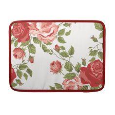 Old-Fashioned Roses Design Laptop Case MacBook Pro Sleeves by @Susan Asis Kalman