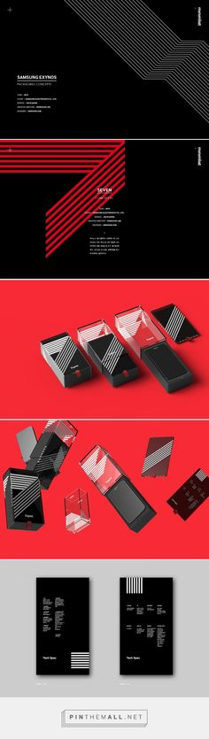 Art direction, industrial design and packaging for Samsung Exynos Packaging Concepts on Behance curated by Packaging Diva PD. The packaging consists of a series of sleek acrylic pillars that securely contend the mobile as well as an information panel.