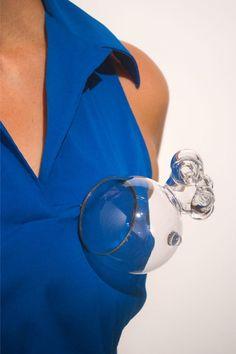Stephie Kate Dimmer - brooch, Organ Series #2, 2013, glass, steel, pigment