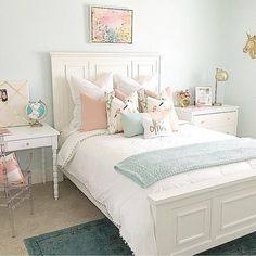 Teen Girl Bedrooms truly snug example - Eye Catching and breathtaking range of teen room decor tactic. For added peachy ideas simply pop by the pin image immediately. Dream Rooms, Dream Bedroom, Home Bedroom, Room Decor Bedroom, Big Girl Bedrooms, Little Girl Rooms, Girls Bedroom, Cute Bedroom Ideas, Girl Bedroom Designs