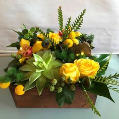 A Wonderful Sister Sent This Deluxe Large Texture Box Floral Arrangement To Her Brother Every