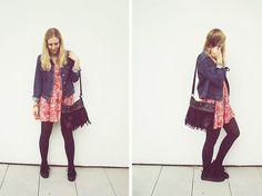 H&M Platforms, Deichmann Fringe Bag, Seond Hand Dress