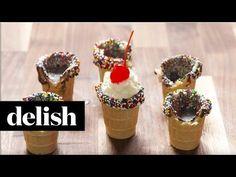 Ice Cream Shot Glasses - Delish.com, How to Make Shot Glasses From Ice Cream Cones - Delish.com