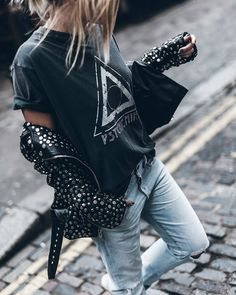 The best collection of So Good Summer Fashion Outfit Ideas For Ladies - Get Idea Hipster Outfits, Edgy Outfits, Cool Outfits, Fashion Outfits, Rock Chic Outfits, Moda Grunge, Look Street Style, Mein Style, Edgy Style