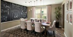 Make this dining room a formal or informal space.  The butler's pantry provides easy access. Floor and chairs