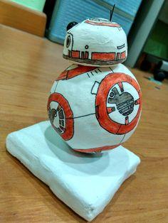 Handmade BB8 - behind - Star Wars - Force Awakens - clay - Sharpies