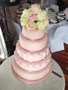 5 tier pink wedding cake  #weddings #weddingfood #portelizabethwedding #easterncapewedding  #forestwedding #plantationwedding #weddingseason Forest Wedding, Wedding Season, Wedding Cakes, Weddings, Desserts, Pink, Food, Wedding Gown Cakes, Wedding