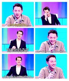 But I love him! Jon Richardson But I love him! British Sitcoms, British Comedy, Jon Richardson, 8 Out Of 10 Cats, British Humor, Happy Smile, Funny People, Tumblr Funny, I Love Him