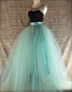 Full length sewn unlined tulle skirt. by TutusChicOriginals