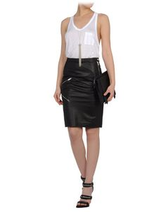 Band of Outsiders leather skirt