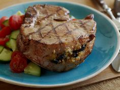 Pork Recipes For Dinner, Pork Chop Recipes, Grilled Pork Chops, Dried Cherries, Chops Recipe, Pork Dishes, Food Network Recipes, The Help, Easy Meals