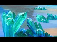 How To Paint Crystals & Refracting Light