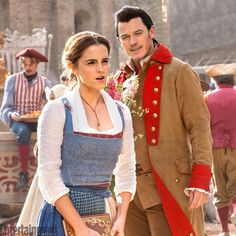 Belle and Gaston, from Disney's upcoming Beauty and the Beast