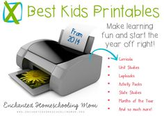 Because printables for kids come in all forms and styles, come check out the best kid's printables from 2014 from Enchanted Homeschooling Mom! An amazing list of children educational printables. Toddler Fun, Toddler Preschool, Childhood Education, Kids Education, Starting A Daycare, Apps For Teachers, Preschool Printables, Homeschool Math, Home Schooling