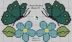 Cross Stitching, Cross Stitch Embroidery, Hand Embroidery, Cross Stitch Charts, Cross Stitch Patterns, Crochet Patterns, Butterfly Cross Stitch, Cross Stitch Flowers, Bead Crochet