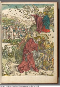 Dürer, Albrecht, 1471-1528. Apocalipsis cu[m] figuris. [Nuremberg : Albrecht Dürer, 1498]. Typ Inc 2121A. Houghton Library, Harvard University, Cambridge, Mass. http://nrs.harvard.edu/urn-3:FHCL.HOUGH:6666282?n=45