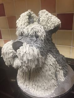 Schnauzer cake all edible