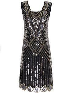 Damen 1920er Gatsby Flapper Kostüm Kleid zu Karneval, Halloween & Fasching | ab €28
