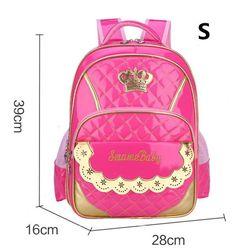 3a936b6a67 New Kawaii Children School Bags for Girls Princess backpacks Schoolbag  Mochila Kids book bag waterproof school shoulder bag
