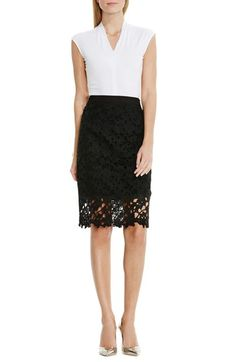 Vince Camuto Floral Lace Pencil Skirt (Regular & Petite) available at Floral Print Skirt, Floral Lace, Scalloped Skirt, Chanel, Party Skirt, New Outfits, Summer Outfits, Lace Skirt, Style Inspiration