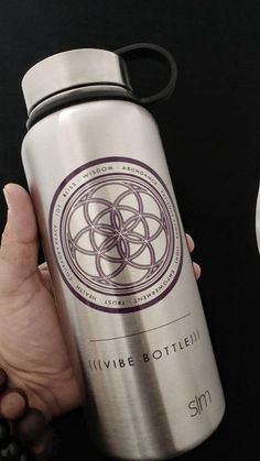 a4114d28cc (((VIBE BOTTLE))) · Products · 32 oz. Vacuum Steel - Alignment Design -  SILVER with Purple Print