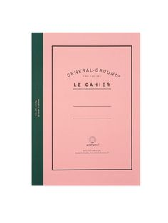Pink exercise book