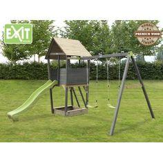 Exit Aksent legetårn med gynger og rutchebane