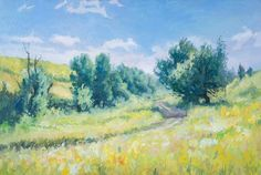 Oil Paintings, Summer Days, Canvas Size, Light Colors, Landscape, The Originals, Artwork, Work Of Art, Bright Colors