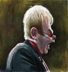 [ Elton John ] - artist: Paul Moyse - website: http://artofmoyse.blogspot.com