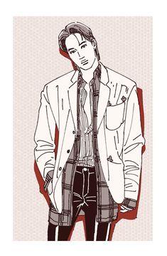 Exo Kai, Chanyeol, Kai Arts, Exo Fan Art, Sketch Inspiration, Kaisoo, Kpop Fanart, Drawing Reference, Art Inspo