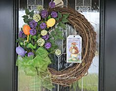 2 in 1 Easter to Spring Grapevine Wreath with by ATwistDivine