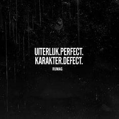 Uiterlijk perfect, karakter defect