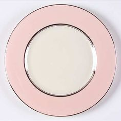 """""""Shell Pink"""" china pattern with pastel pink & silver platinum trim from Castleton."""