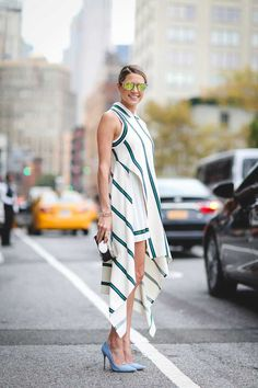 ELLE Street Style: NYFW S/S 2016 | Helena Bordon wears #Lacoste , Charlotte Olympia bag, Helena #glasses , Schutz shoes.