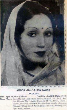 Lalita Pawar, Bollywood actress of the thirties