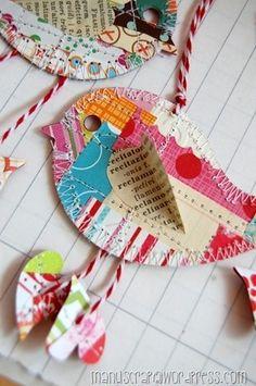 scrappy paper bird lt;3