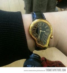 `Melting Salvador Dali watch' If it came in silver......