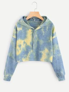 Good Screen Tie Dye Drop Shoulder Crop Hoodie Suggestions For this easy tank prime gown, I decided to utilize a black color, a dime color, and a bordeaux. Tie Dye Outfits, Casual Outfits, Cute Outfits, Fashion Outfits, Diy Summer Clothes, Summer Outfits For Teens, Diy Clothes, Teen Crop Tops, Tie Dye Fashion