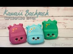Kawaii Backpack Cupcake Topper | Back To School!
