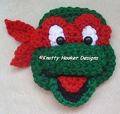 Turtle Mutant crochet pattern for applique