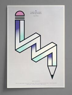 imagine the possibilities - pencil - Graphic Art Print by Magpie Studio